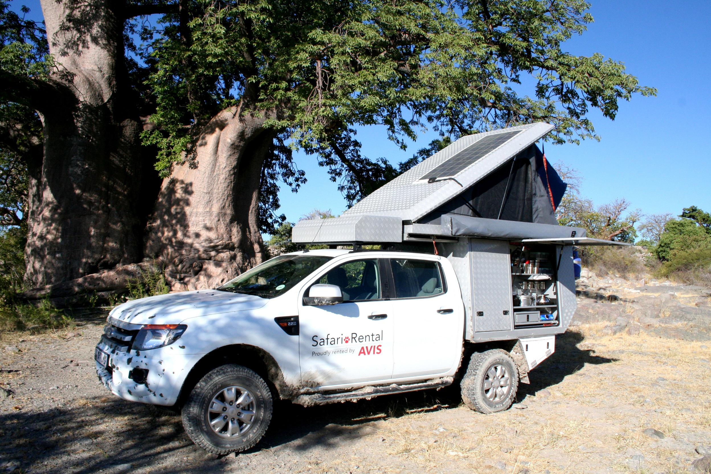 rent a ford ranger double cab 4x4 luxury safari camper. Black Bedroom Furniture Sets. Home Design Ideas